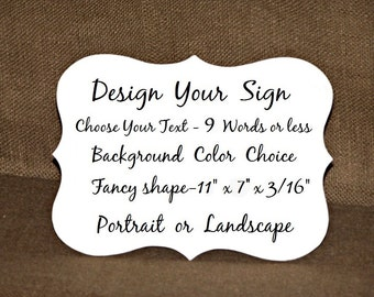 Design A Custom Sign, Wood Home Decor Gift, Create Your Own, Business Plaque Wall Hanging, Make A Sign Wedding Decor, Fancy Shape, Spa Salon