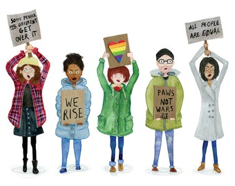 Resist - A3 Giclée Print - Fundraising for The Advocates for Human Rights