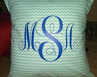 Personalized monogrammed pillpw
