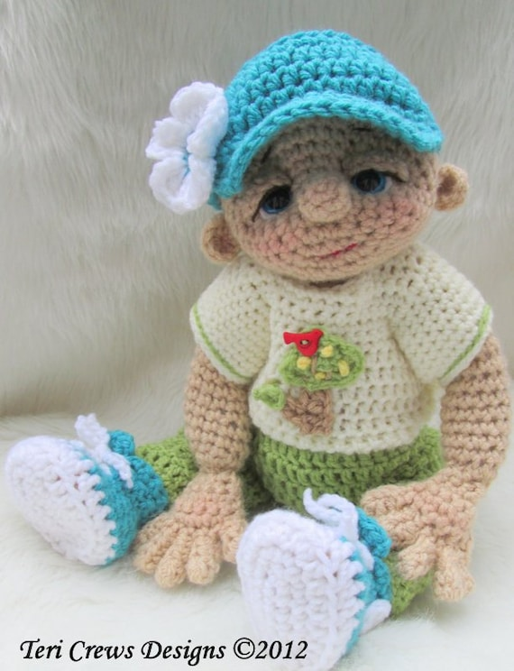 Crochet Pattern Play Wear Doll Clothes Set for So Cute Baby Doll by ...