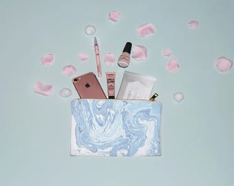 Water Marble Pattern Make Up Bag, Cosmetic Bag,  Marbled Make Up Bag, Cosmetic Bag, Cute Make up Bag, MUA, MUA Gift, Striped Make up Bag