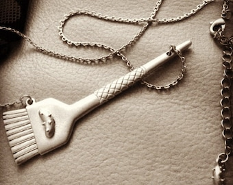 Color Brush Necklace for Hairstylists, Hairdressers.