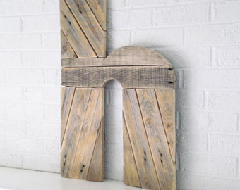 Wood Wall Art Giant Letter h