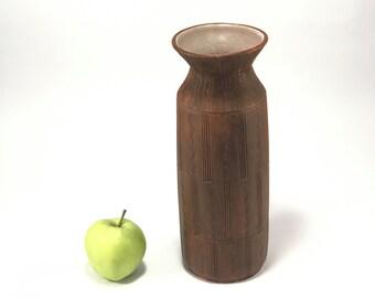 Vintage Clay Vase//Brown//Decorative