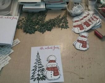 Cheery snowman holiday greeting