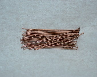"""24ga.  1 1/2"""" Antique Copper Headpins - 50 pcs (3061503)"""