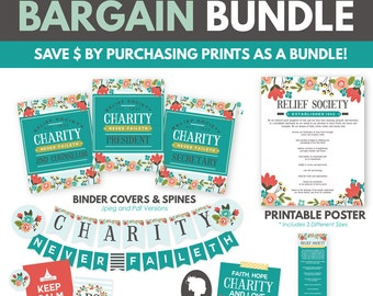 LDS Relief Society Printable Pack (Bundle Deal 25% Off)