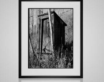 Funny Bathroom Print / Bathroom Wall Art / Powder Room Decor / Modern Farmhouse Wall Art / Framed Wall Art / Rustic Home Decor / Outhouse
