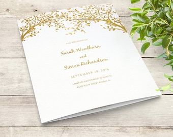 Order Of Service Etsy - Wedding invitation templates: wedding order of service template