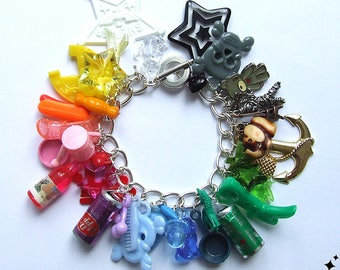 Kitsch Rainbow Charm Bracelet - Loaded with Colourful Kitsch Charms