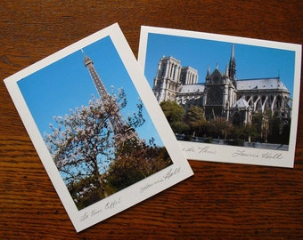 Paris Monuments Note Cards, French Monuments, City of Love, Paris Monuments Photos Signed by Artist, French Cityscapes, Blank Note Cards