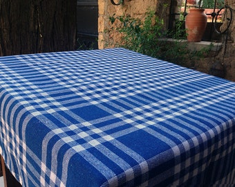 Tablecloth Picnic Throw  Kitchen Tablecloth Plaid Tablecloth Check Tablecloth Striped Tablecloth Cotton Tablecloth Gingham Table Cover Chair