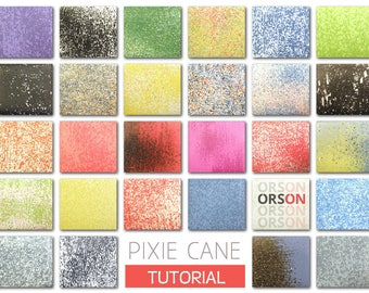 Orson's Pixie cane in polymer clay Original tutorial e-book in ENGLISH only