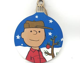 Hand-painted Christmas Bauble - Charlie Brown