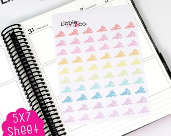 LL241 Libbie's Littles Swimming Stickers, Erin Condren, Happy, Mambi, Plum Paper and Personal Planners!