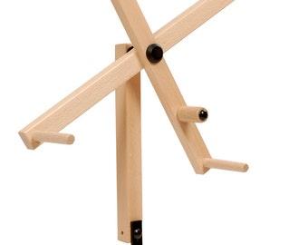 Skein Winder, Skein Winder Accessory, Louet Stand Alone Foldable Skein Winder Accessory for the Louet S10 Double Treadle Spinning Wheel