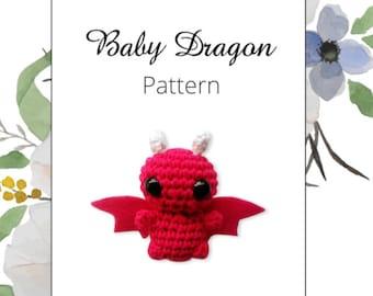 Baby dragon PDF amigurumi crochet pattern