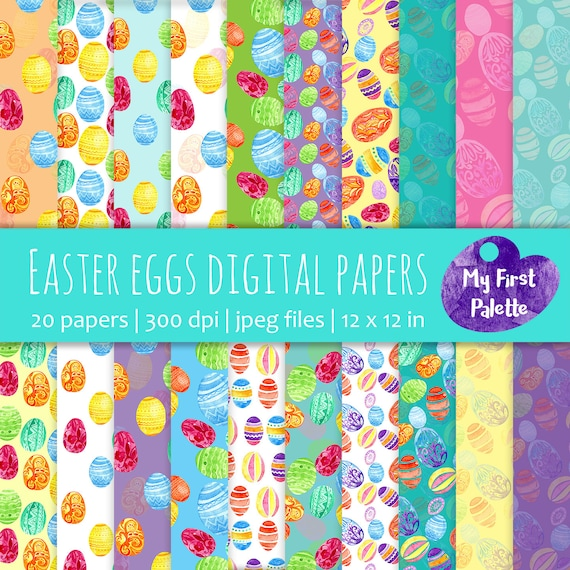 Easter eggs digital paper easter gift wrap printable wrapping easter eggs digital paper easter gift wrap printable wrapping paper scrapbook paper printable background diy cards egg from myfirstpalette on etsy negle Choice Image