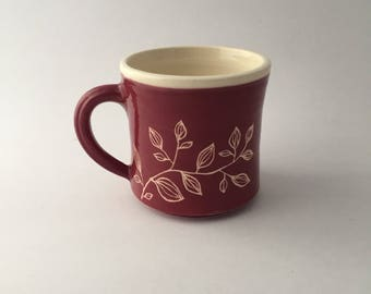 Hand Thrown Floral Botanical Mug