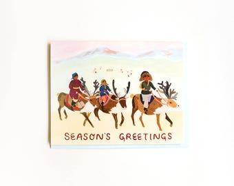 Reindeer Village SG Card / Set of 8