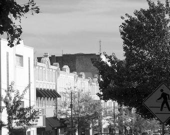 Urban Photography, Black and White Photos of Asheville North Carolina, Hula Hooper Sign