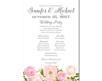 Wedding Program Sign, Welcome Wedding Sign, Program Sign, Floral Program Sign, Rustic Program Sign, Wedding Sign, Wedding Poster #CL114