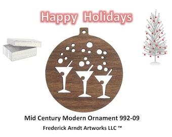 992-9 Mid Century Modern Christmas Ornament