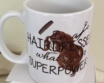 Hairdresser Mug, Superpower Mug