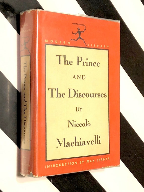 The Prince and The Discourses by Niccolo Machiavelli (1940) Modern Library hardcover book