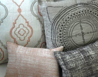 Barkcloth Collection // Accent Pillows Covers // Decorative Pillows for Couch // Throw Pillow Covers
