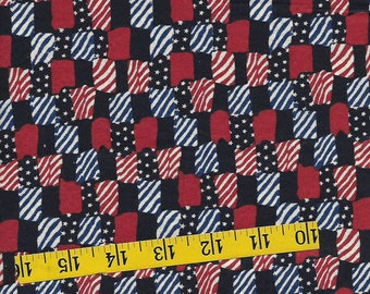 fat quarter, 19th century reproduction cotton fabric, patriotic rectangles,  quilting, sewing, crafting