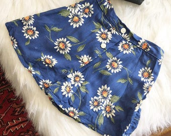 Vintage 90's toddler daisy button-up skort ||