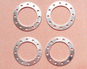 4 rings silver metal 20 mm