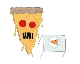 Pizza-balism sticker, it's pizza eating pizza!