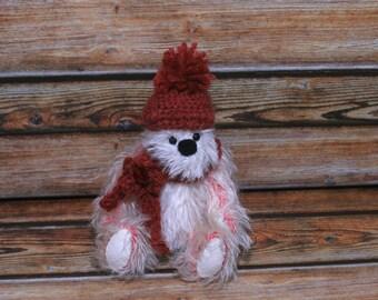 """Coconut Ice 8"""" OOAK mohair artist bear"""