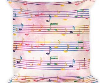 Music Room Decor, Music Pillow, music decor, Music Bedding, Musician Gift, Decorative Pillows, music decor, Music Gift, music teacher