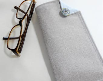 Glasses Case, Eyeglass Case, Reading Glasses Case, Sunglass Case, Gift for Her, Gift for Mom, Fabric Case, Cloth Case, Coco Channel Style