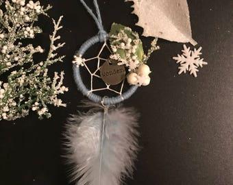Winter Dreamcatcher Ornament , Christmas Tree Ornament, Unique Ornament