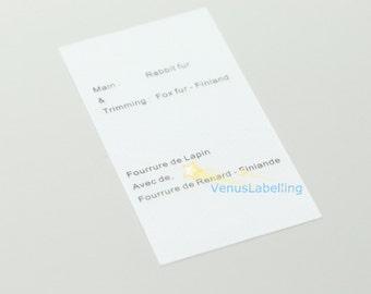 500 satin label, printed labels, printing tags, printed satin labels, screen printing, clothing labels, fabric labels, garment tags.