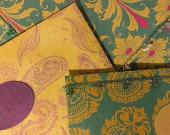 South Asian Monetary Gift Envelope for Engagement and Weddings   DDLJ Collection
