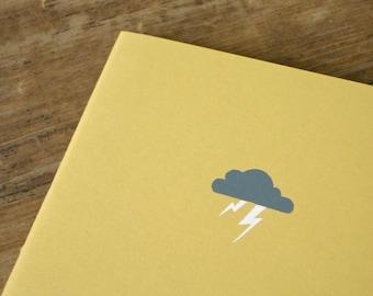 Thunder Cloud Notebook - Lightning Cahier