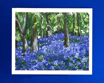 Bluebell wood etsy spring decor easter easter gift nanny gift gift for her bluebells negle Images
