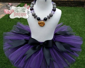 Ursula costume etsy ursula sea witch purple black little mermaid sea witch babychild tutu wit hairbow newborn 5t solutioingenieria Gallery