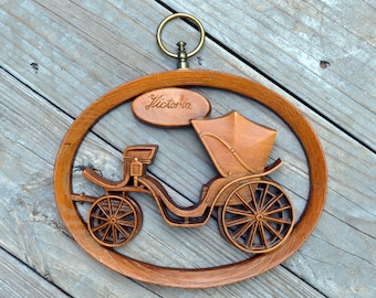 Vintage Victoria Carriage Wall Hanging by Burwood Products Co.