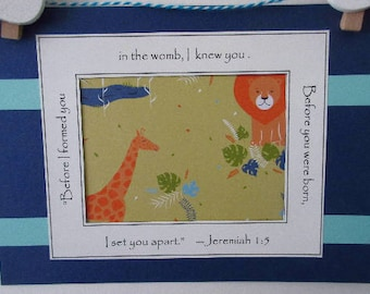 Gender Neutral Baby Announcement Ultrasound Frame Grandparents Gift Jeremiah Bible Verse Nursery Decor Primary Colors 5x7 Frame