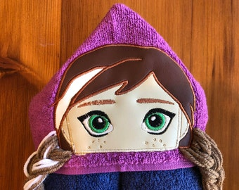 Anna Inspired Hooded Towel