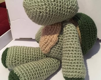 Turtle Stuffed Animal, Crocheted Turtle, Turtle Toy