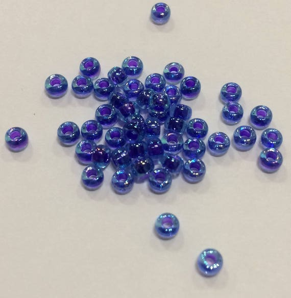 Size 8 Miyuki Seed Bead Lined Blue/ Violet AB 15g