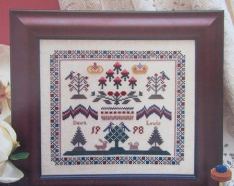 Stitches of Old/Counted Cross Stitch Sampler Pattern by The Needle's Work/1998/Needlecraft/Embroidery/Wall Hanging/Home Decor