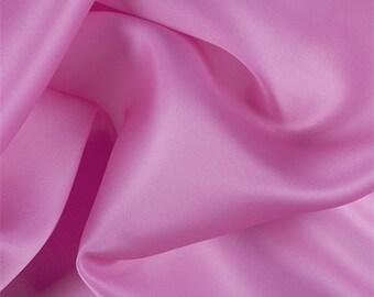 Hot Pink Silk Satin Organza, Fabric By The Yard